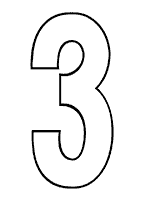 Clean image intended for large solid printable numbers