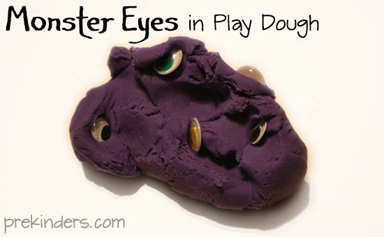 Monster Eyes in Play Dough