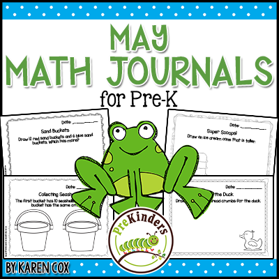 Pre-K Math Journals for May