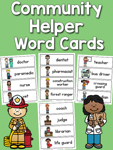 Community Helper Word Cards