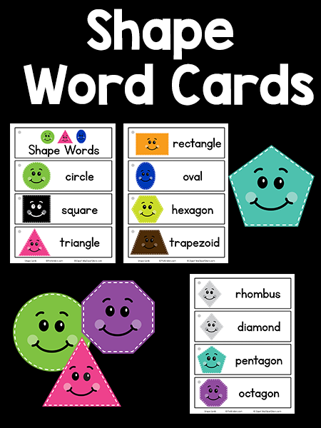 Shapes Picture-Word Cards: printable