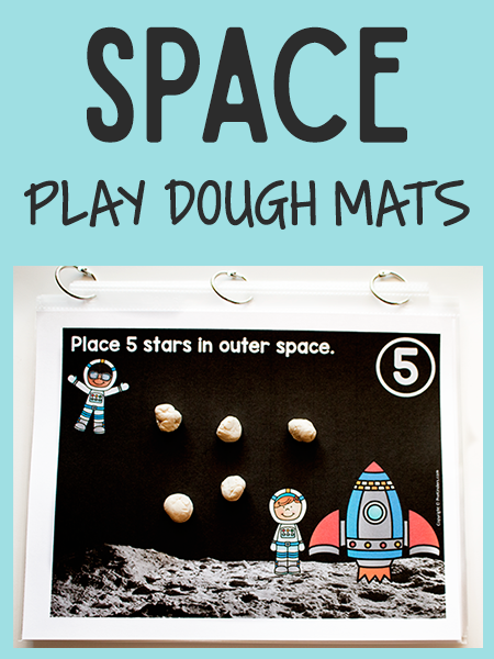 Space Play Dough Counting Mats