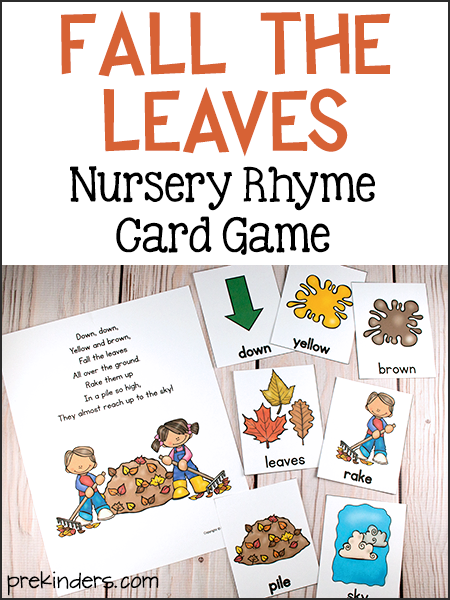 Fall the Leaves: Nursery Rhyme Card Game