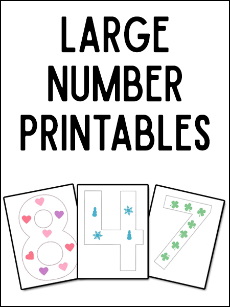 Large Number Printables