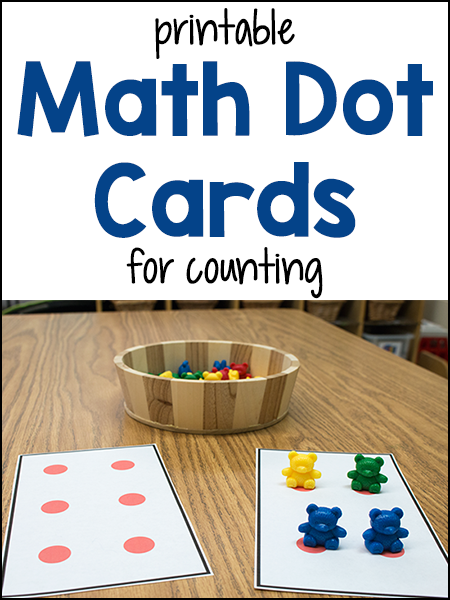 Math Dot Cards for Counting