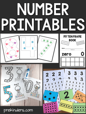 Number Printables Preschool Math
