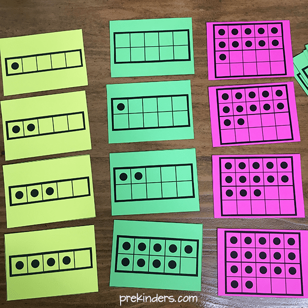 graphic relating to Ten Frame Printable named Enormous Numeral Printables and A lot more - PreKinders