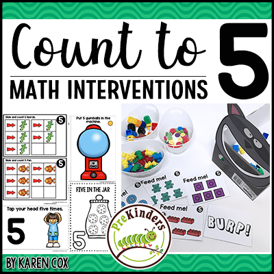 Counting to 5 Math Interventions