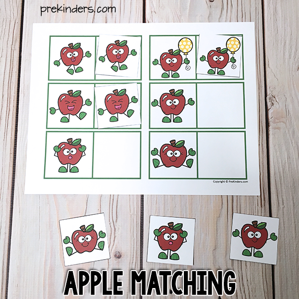 Apple Matching Printable