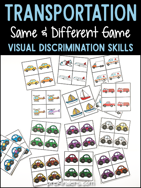 Transportation Same Different Activity for Visual Discrimination Skills