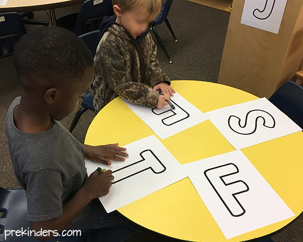 Rainbow Write the Room: Writing with Pre-K & Preschool Children