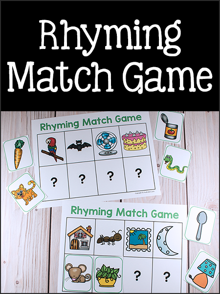 Current image with regard to rhyming games printable