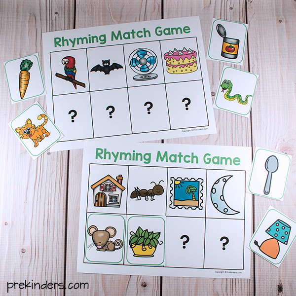Rhyming Match Games - PreKinders