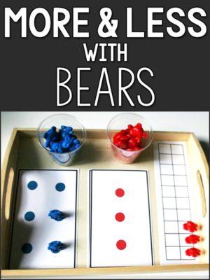 more less bear counters lesson