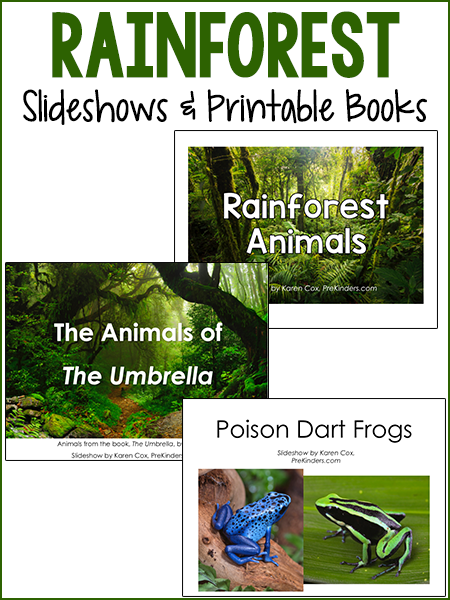 Rainforest Slideshows and Printable Books