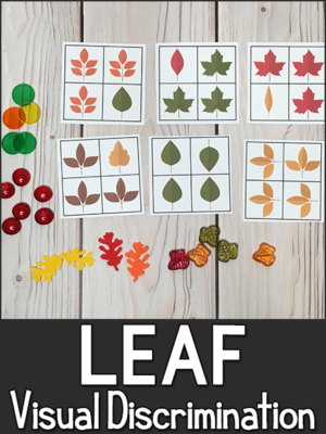 Leaf Visual Discrimination Printables