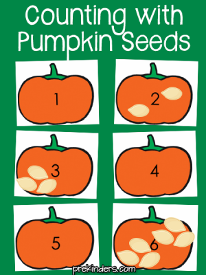 Counting with Pumpkin Seeds