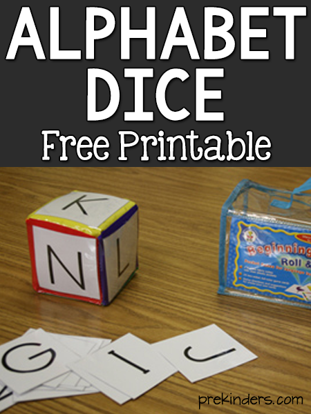 Alphabet Dice Printable