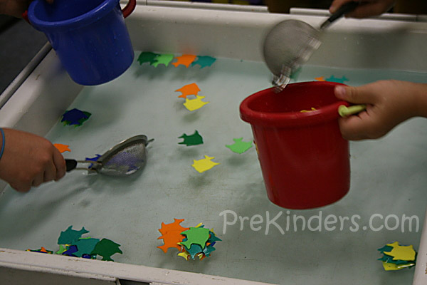 sensory table transportation fun with water