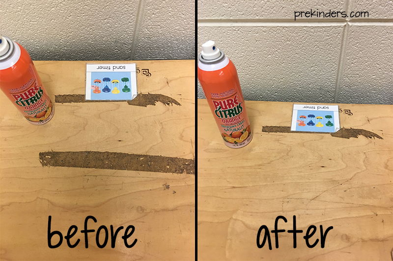 Clean Gunk Off Classroom Furniture with Orange Air Freshener