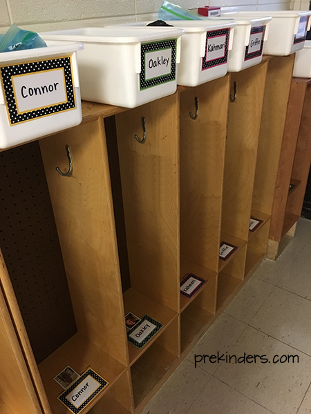 Label cubbies for preschool