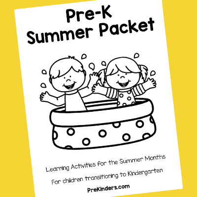 Pre-K Summer Activities Packet