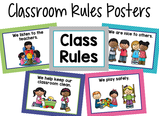 Class Rules Posters - Free Printable