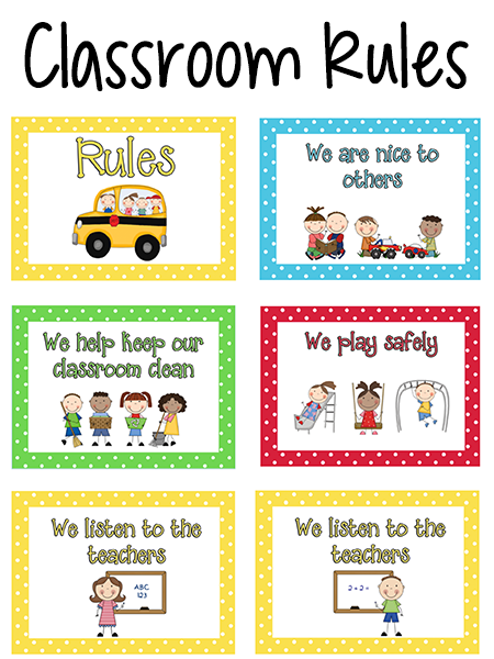 photo regarding Classroom Rules Printable identify Pre-K Clroom Tips - PreKinders