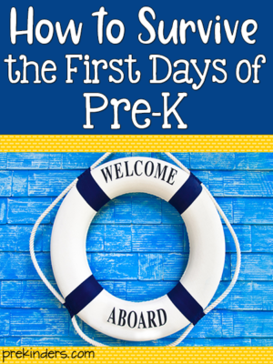 Survive First Days of Teaching Pre-K