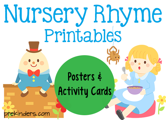 picture relating to Printable Nursery Rhymes titled Nursery Rhyme Printables - PreKinders