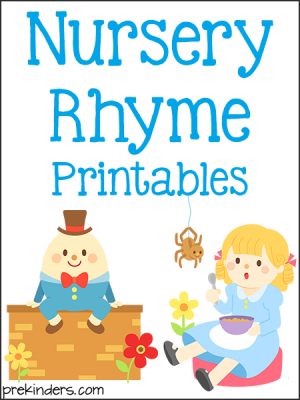 photograph about Printable Nursery Rhymes named Pre-K Literacy Printables - PreKinders
