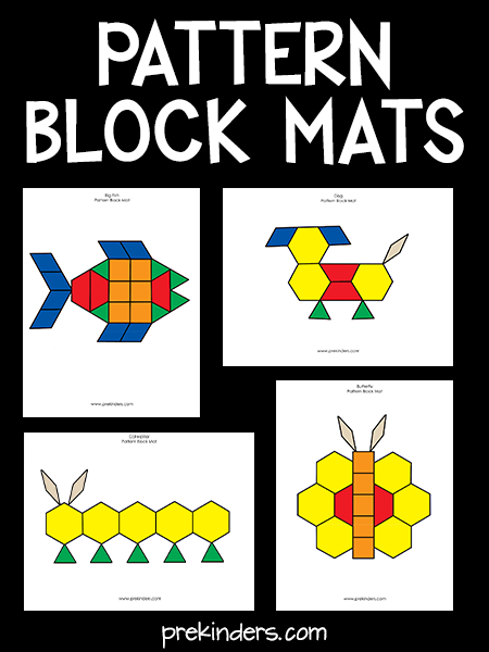 graphic relating to There Was an Old Lady Printable Template called Routine Block Mats - PreKinders