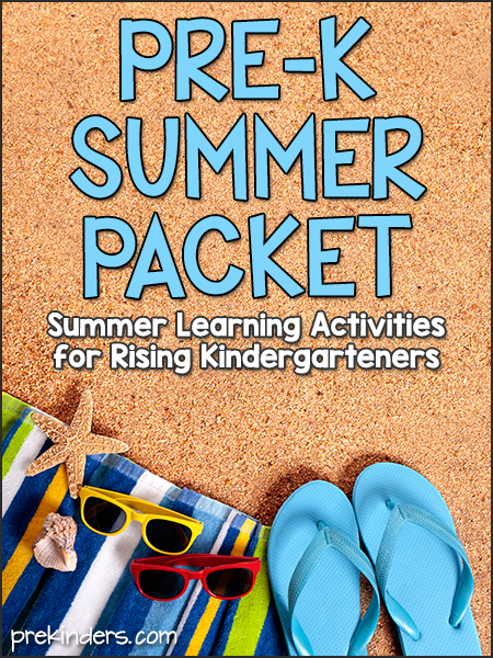 Pre-K Summer Packet (Preschool Kids Going to Kindergarten): free printable pack