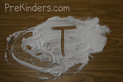 shaving cream letter writing