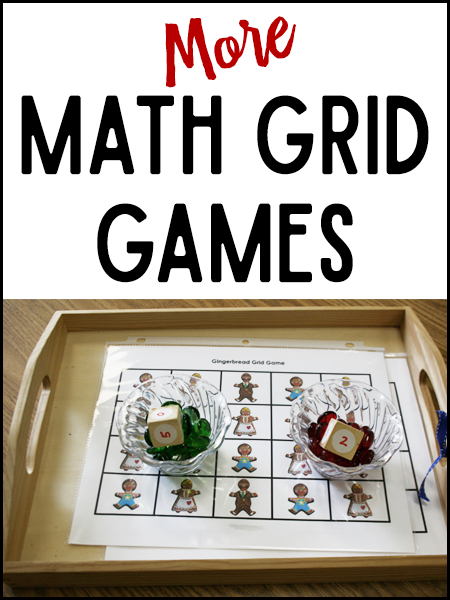 More Math Grid Games from PreKinders.com