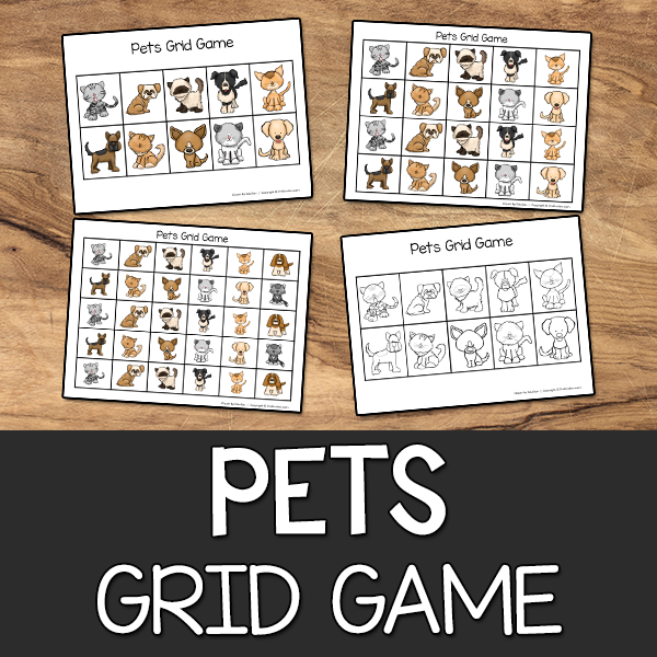 Pets Grid Game