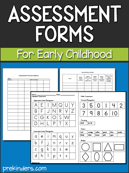Assessment Forms for Preschool & Pre-K
