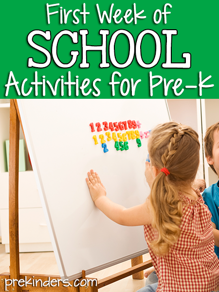First Week of School Activities for Pre-K, Preschool