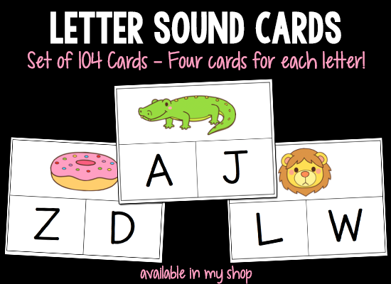 Letter Sound Cards printable