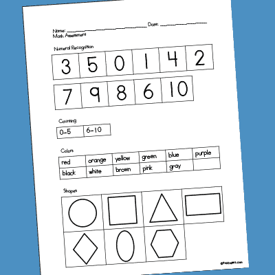 photograph relating to Kindergarten Math Assessment Printable known as Pre-K Analysis Kinds - PreKinders