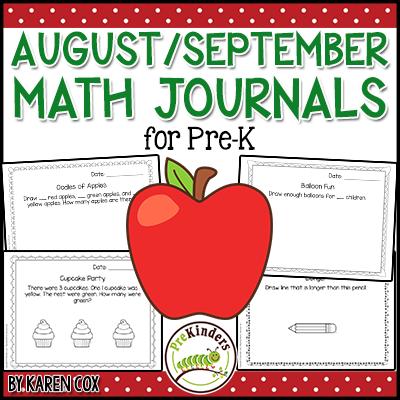 Pre-K Math Journals August September