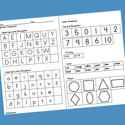 photograph relating to Kindergarten Math Assessment Printable titled Pre-K Analysis Sorts - PreKinders