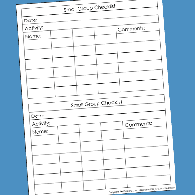 Small Group Checklist