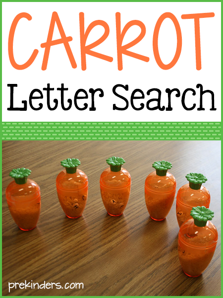 Carrot Letter Search Game with Printable