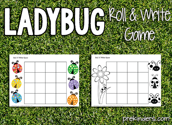 Ladybug Roll & Write Game