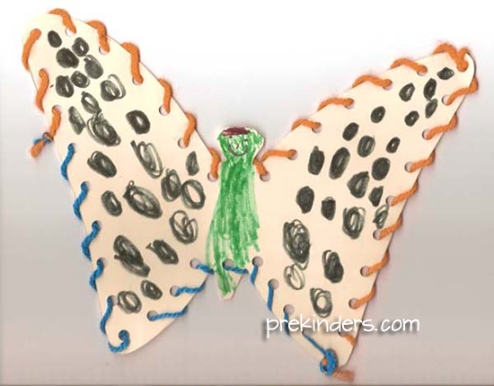 Butterfly Lacing Art Project