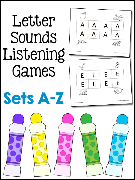 Letter Sounds Listening Games
