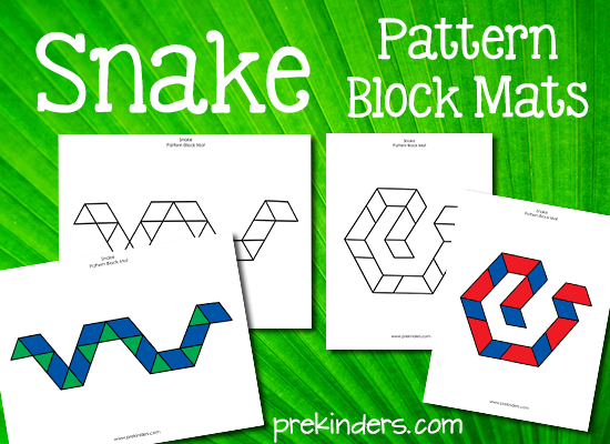 Snake Pattern Blocks Mats