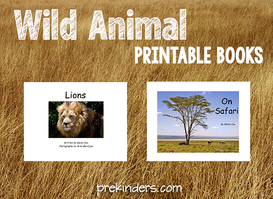 Wild Animal Printable Books