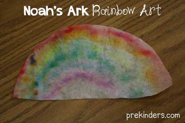 Noah's Ark Rainbow Art